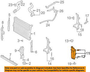 BMW-OEM-04-10-X3-Radiator-Coolant-Overflow-Tank-Recovery-Bottle-17117573781