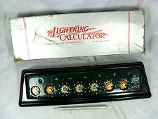 Vintage Lightning portable adding machine Rechenmaschine +box  working condition
