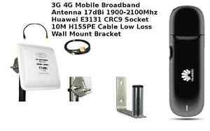 Mobile-Broadband-Antenna-Aerial-Booster-3G-UMTS-HSPA-Huawei-E3131-SET-10M-cable