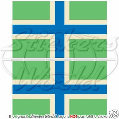 GLOUCESTERSHIRE County Flag UK Bumper Sticker Decal x2