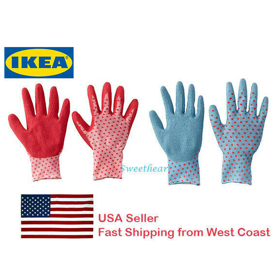 Stupendous Ikea Protective Comfortable Soft Garden Glove Polka Dot For Planting Women Pdpeps Interior Chair Design Pdpepsorg