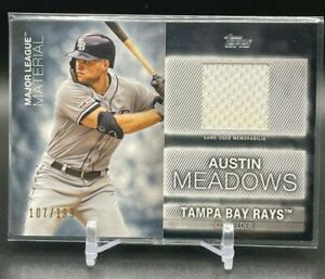 2020 Topps AUSTIN MEADOWS Major League Materials Jersey Patch Relic /199 #MLM-AM