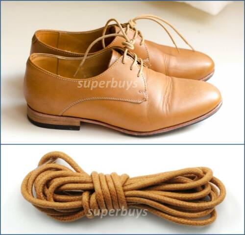 """Golden Tan 80cm Round Wax Waxed Cotton Shoe Work Boot Cord Dress Laces 32/"""""""