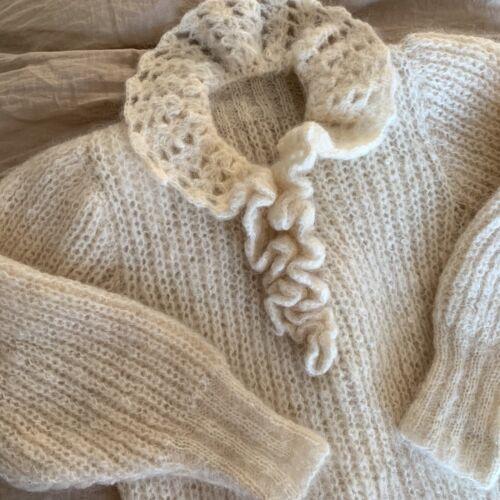 Vintage Rare 30s 40s Angora Mohair Sweater Etherea
