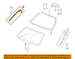 Genuine  Garnish Assembly R Front Windshield Side 73152-S9A-003