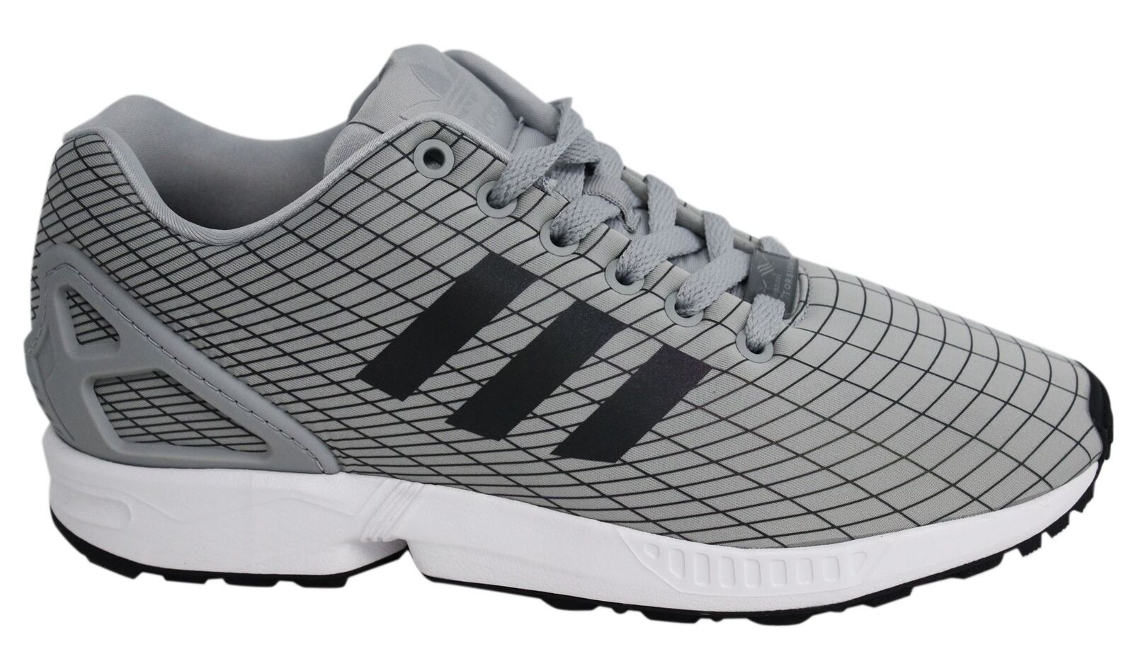 Adidas ZX Flux Lace Up Grey Synthetic Textile Mens Trainers BB2159 D95