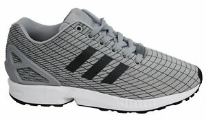 super popular 4c347 c1468 ... Adidas-Zx-Flux-Lacet-Gris-Synthetique-Textile-Baskets-