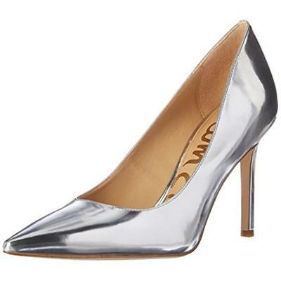 Sam Edelman 4746 Womens Hazel Silver Heels Pumps Shoes 8 Medium (B,M) BHFO