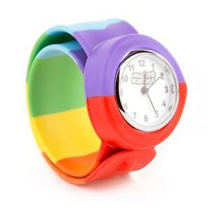 Gay-Pride-Wacky-Watches-Snap-On-Pression-Montre-Arc-En-Ciel-Lgbt
