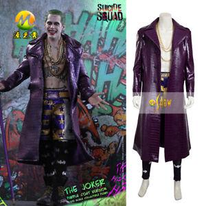 0004bb33e Suicide Squad Joker Cosplay costume fancy Dress Halloween Costume ...