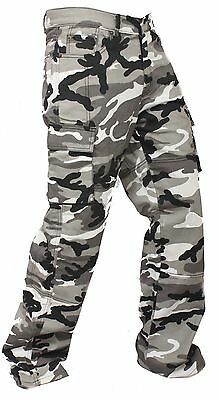 New Motorbike Motorcycle Urban Camo Cargo Trouser Jean With Protective Lining US