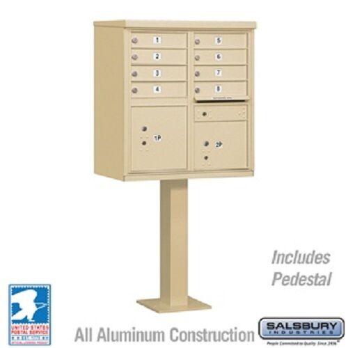 8 Salsbury Door Cluster Mailbox - USPS Approved - Free Shipping and Engraving