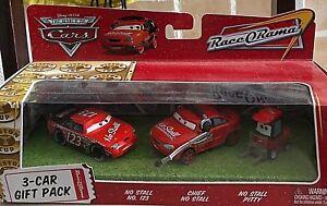 Disney Pixar Cars Modellini: Ensemble-cadeau de 3 voitures