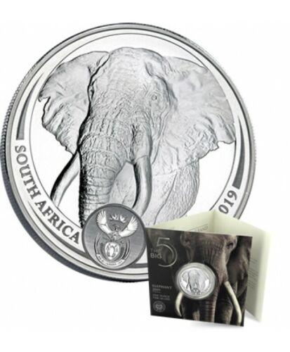 2019 SEALED SOUTH AFRICA ELEPHANT BIG FIVE 1 oz .999 SILVER