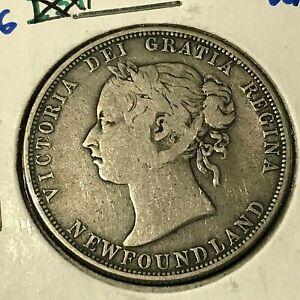 1882 newfoundland 20 cent coin