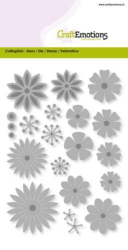 18 Stanzschablone CRAFTEMOTIONS Blüten 3D Blumen FLOWER MIX LARGE 0510