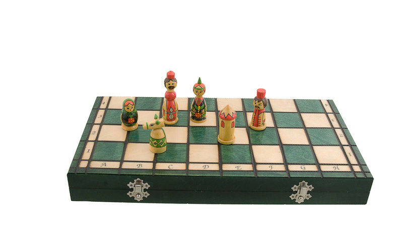 Chessboard Set ' Chess Wood Babushka Russia 40x40cm Peterandclo 6796