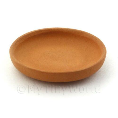 Dolls House Miniature Handmade Oval Terracotta Plate