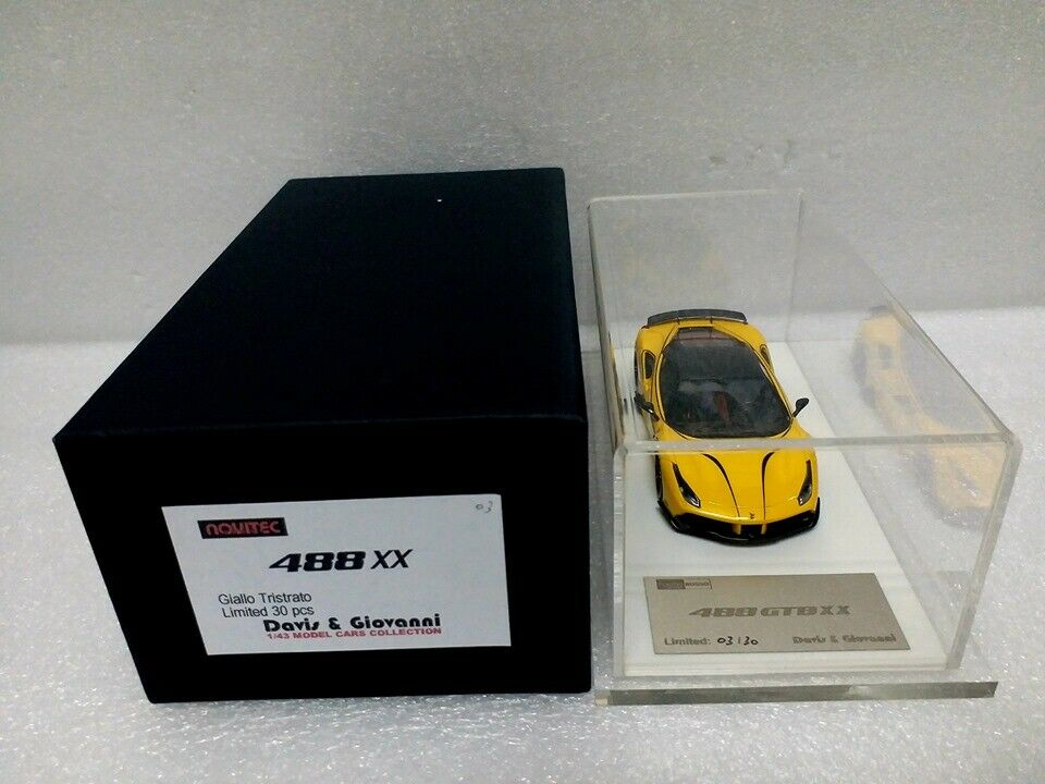 Davis & Giovanni 1 43 NOVITEC 488XX yellow Tristrato w display case  DG43077B