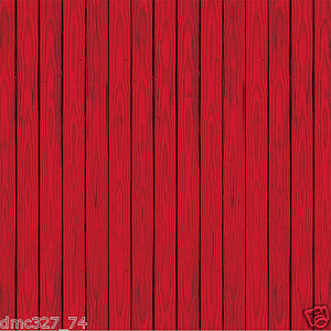 Farm barnyard party decoration red barn siding wall mural for Barnyard wall mural