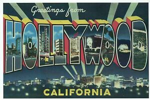 Greetings from hollywood california movie town modern large image is loading greetings from hollywood california movie town modern large m4hsunfo Gallery