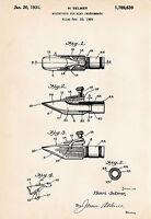 1931 Selmer Clarinet Art Illustration Patent Drawing Print Decor Gift Ideas
