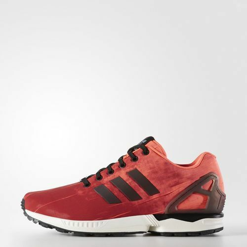 Q16516 Men's Adidas ZX Flux Running shoes   SOLAR RED CORE BLACK VINTAGE WHITE