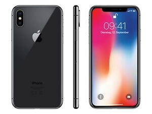 apple iphone x 256gb spacegrau ohne sim lock. Black Bedroom Furniture Sets. Home Design Ideas