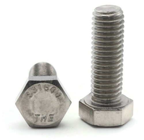 Qty 25 316 Stainless Steel Hex Cap Screw Bolt FT UNC 5//16-18 x 7//8
