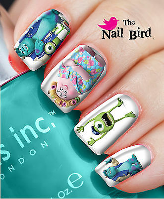 Nail Art Nail Decals Nail Transfers Natural/Acrylic Nails - MONSTERS UNIVERSITY