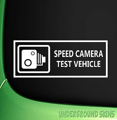 SPEED CAMERA TEST VEHICLE Funny Car/Window/Van  JDM VW EURO Vinyl Decal Sticker