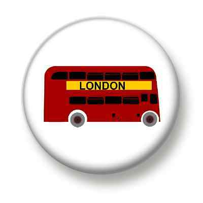 London Bus 1 Inch / 25mm Pin Button Badge City England Great Britain Transport