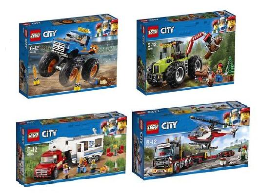 LEGO® CITY 2018 COLLECTION 4tlg. 60180 - 60181 - 60182 - 60183