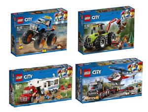 Lego City 2018 Collection 4 Pièces 60180 - 60181 60182 60183