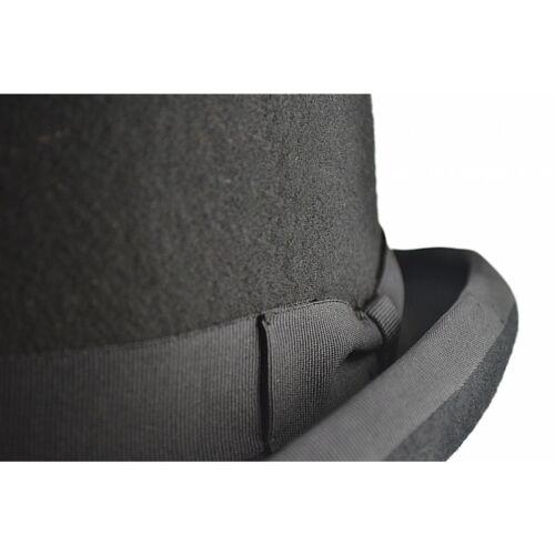 Classique Chapeau Melon Noir Fait à la main de 100/% Premium Laine Feutre pour journée spéciale UK
