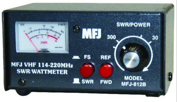 MFJ-812B VHF (144-220MHz) SWR/Wattmeter, Selectable for 30 or 300W. Available Now for 59.95
