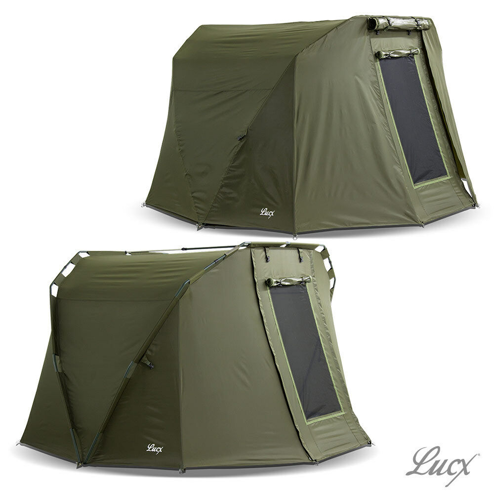 Lucx ® 2 Uomo Angel Tenda  su lancio Bivvy  Inverno SKIN Carpa TENDA CARP FISHING TEN