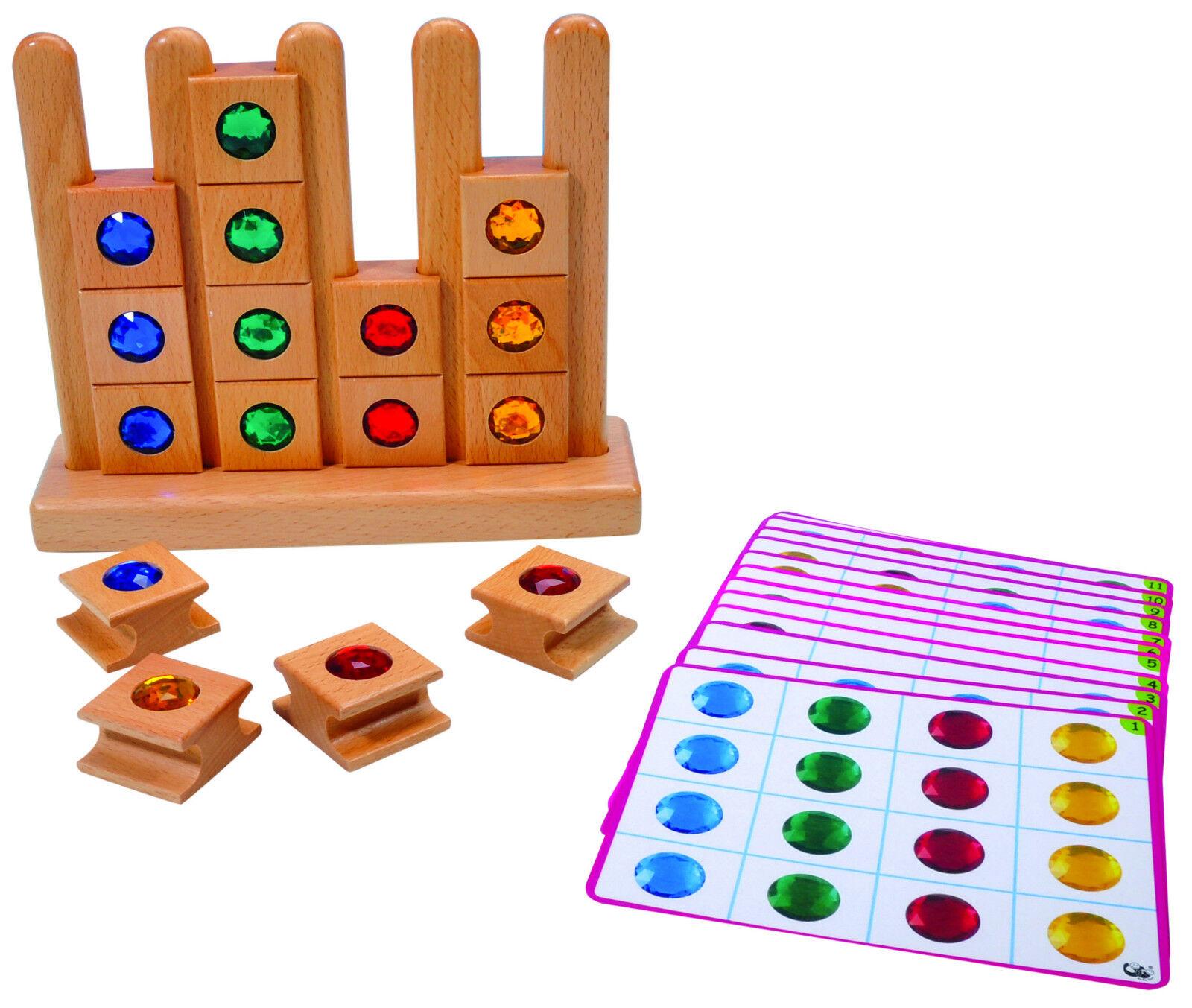 Legespiel Lernspiel Tieren & Juwelen Holzspielzeug Kindergarten  °449-50 °449-50 °449-50 1850d3