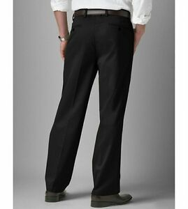 fa80d1aae4c BIG AND TALL MEN CLASSIC FIT FLAT FRONT BLACK DRESS PANTS-SIZES-46 ...