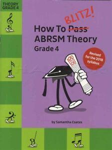 Comment Blitz Abrsm Theory Grade 4 Révisé Sheet Music Book Tests Examens 2018-afficher Le Titre D'origine