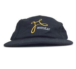 Image is loading Winstar-Communications-Inc-Black-Baseball-Cap-Hat-Adj- 15e0695133f7