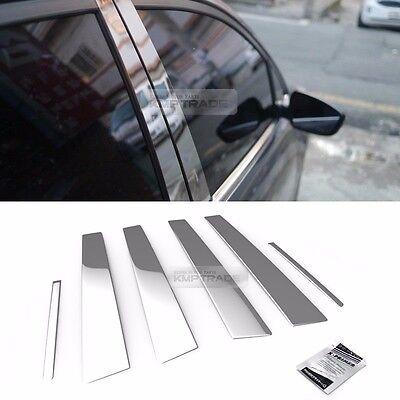 Stainless Steel Chrome Window Pillar Molding 6Pcs For KIA 2010-2014 Sorento R