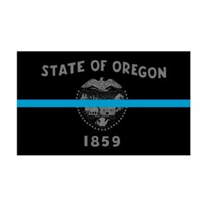 Oregon-OR-State-Flag-Thin-Blue-Line-Police-Sticker-Decal-275-Made-in-USA