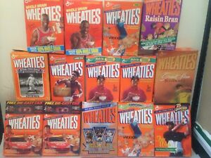 f88269f3bd8 Wheaties Box Collection of 14 Michael Jordan Tiger Woods Muhammad ...