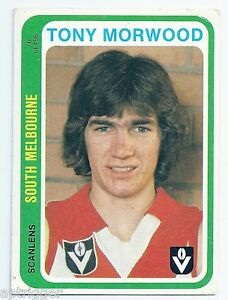 1979 Scanlens (76) Tony MORWOOD South Melbourne """"