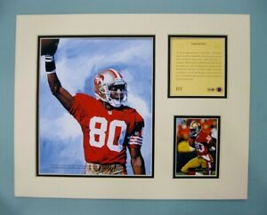 San Francisco 49ers JERRY RICE 1994 Football 11x14 MATTED Kelly Russell Print