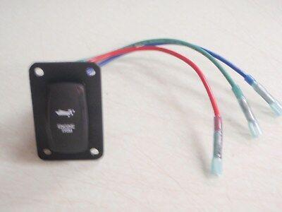 TRIM SWITCH TILT OUTBOARD I//O CARLING V8D1SOOB PSC11BK BLACK CON V  WIRED