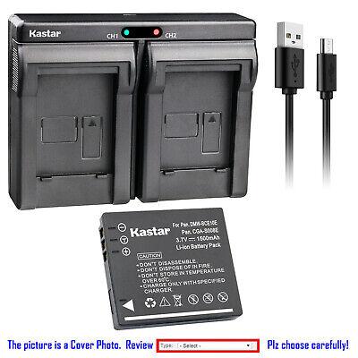 Cámara de batería cargador dual para Panasonic Lumix dmc-fs20