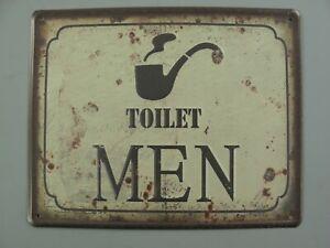 9977708-x Retro Vintage Tin Sign Toilet Men 20x25cm