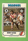 1976 SCANLENS RUGBY LEAGUE CARD #27. HENRY TATANA, ST GEORGE DRAGONS